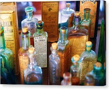 Personalized Canvas Print - Pharmacist - Liniment And Balms by Mike Savad