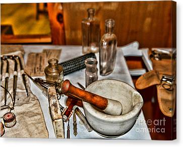 Pharmacist - Mortar And Pestle Canvas Print by Paul Ward