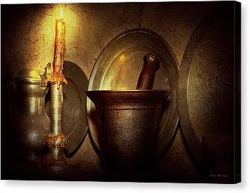 Pharmacist - Pestle - Open Late Canvas Print by Mike Savad