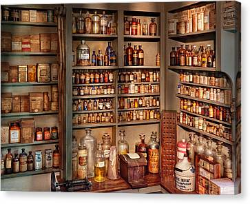 Pharmacy - Get Me That Bottle On The Second Shelf Canvas Print by Mike Savad