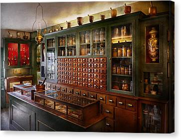 Pharmacy - I'll Be Out In A Minute  Canvas Print by Mike Savad