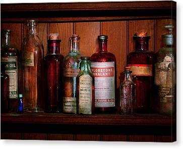 Pharmacy -  Oils And Inhalants Canvas Print by Mike Savad