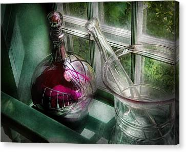 Pharmacy - The Apothecary Is Open  Canvas Print by Mike Savad
