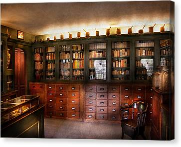 Pharmacy - The Apothecary Shop Canvas Print by Mike Savad