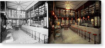 Pharmacy - Bertrams Ghosts 1909 - Side By Side Canvas Print by Mike Savad