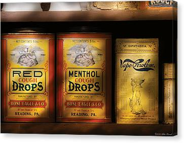 Pharmacy - Cough Drops Canvas Print by Mike Savad