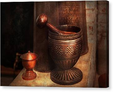 Personalized Canvas Print - Pharmacy - Pestle - Luxury Tools  by Mike Savad