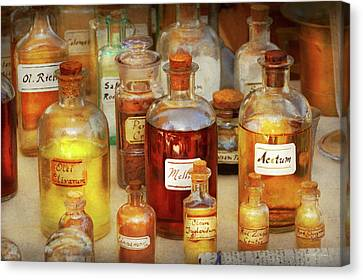 Canvas Print featuring the photograph Pharmacy - Serums And Elixirs by Mike Savad