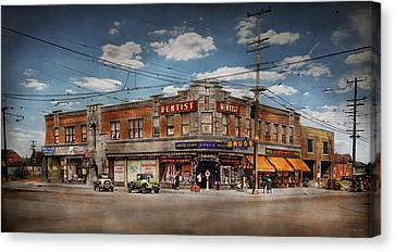 Pharmacy - The Corner Drugstore 1910 Canvas Print by Mike Savad