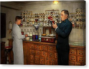 Canvas Print - Pharmacy - The Mixologist 1905 by Mike Savad