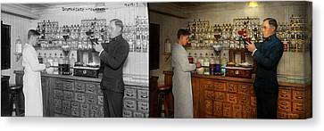 Canvas Print - Pharmacy - The Mixologist 1905 - Side By Side by Mike Savad