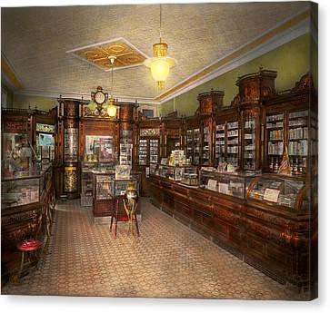 Pharmacy - Weller's Pharmacy 1915 Canvas Print by Mike Savad