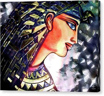 Canvas Print featuring the digital art Pharoah Of Egypt by Pennie  McCracken