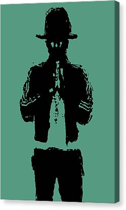 Pharrell Williams 2 Canvas Print by Brian Reaves
