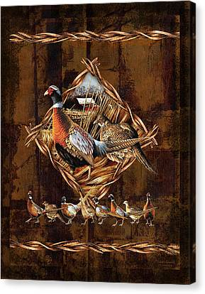 Pheasant Lodge Canvas Print by JQ Licensing