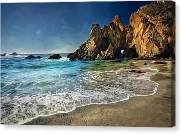 Pheiffer Beach #9- Big Sur California Canvas Print by Jennifer Rondinelli Reilly - Fine Art Photography