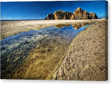 Canvas Print featuring the photograph Pheiffer Beach- Keyhole Rock #19 - Big Sur, Ca by Jennifer Rondinelli Reilly - Fine Art Photography