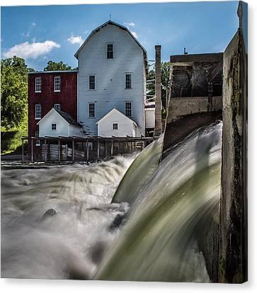 Phelps Mill Falls Canvas Print by Paul Freidlund