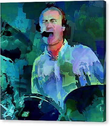 Phil Collins Drums Canvas Print
