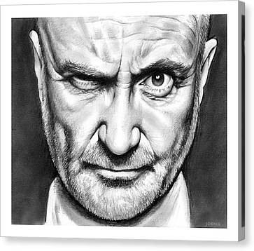 Drummer Canvas Print - Phil Collins by Greg Joens