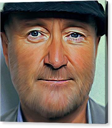 Phil Collins Portrait Genesis 11 Canvas Print