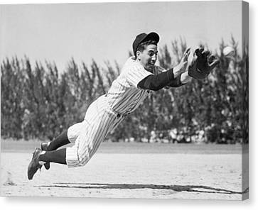 Phil Rizzuto, As A Rookie Infielder Canvas Print by Everett
