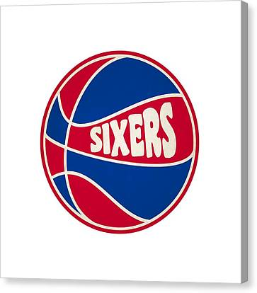 Philadelphia 76ers Retro Shirt Canvas Print by Joe Hamilton