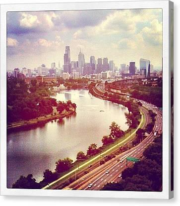 Skylines Canvas Print - #philadelphia by A Loving