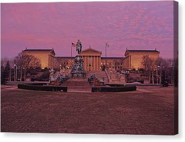 Philadelphia Art Museum At Dusk Canvas Print by Kenneth Garrett