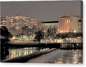 Philadelphia Art Museum In Pastel Canvas Print