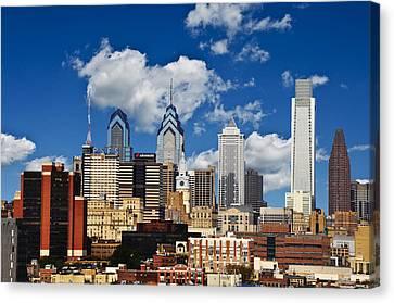Philadelphia Blue Skies Canvas Print by Bill Cannon