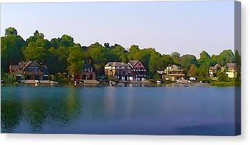Philadelphia Boat House Row Canvas Print by Bill Cannon