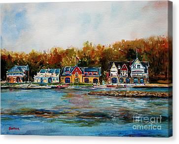 Philadelphia Boat Houses Canvas Print