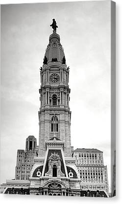 Philadelphia City Hall Tower Canvas Print by Olivier Le Queinec