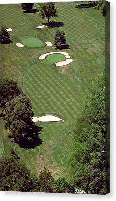 Philadelphia Cricket Club St Martins Golf Course 2nd Hole 415 W Willow Grove Ave Phila Pa 19118 Canvas Print by Duncan Pearson