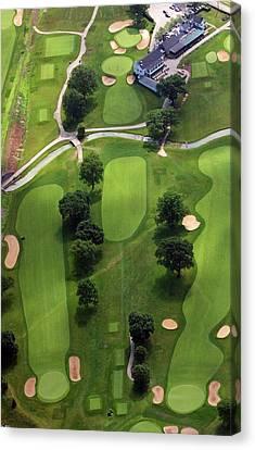 Philadelphia Cricket Club Wissahickon Golf Course 2nd Hole Canvas Print by Duncan Pearson