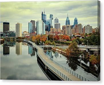 Philadelphia Fall Skyline Canvas Print