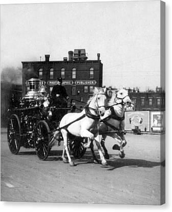 Philadelphia Fire Department Engine - C 1905 Canvas Print