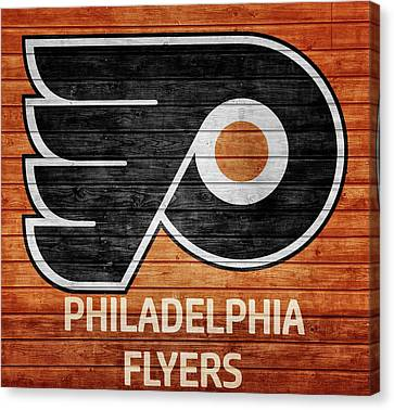 Philadelphia Flyers Barn Door Canvas Print by Dan Sproul