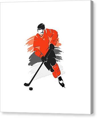 Philadelphia Flyers Player Shirt Canvas Print by Joe Hamilton