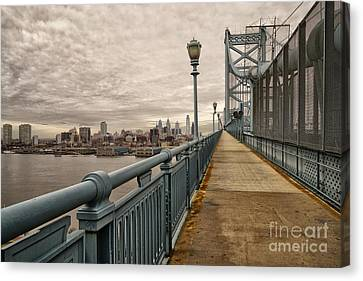 Philadelphia From Ben Franklin Bridge 4 Canvas Print by Jack Paolini