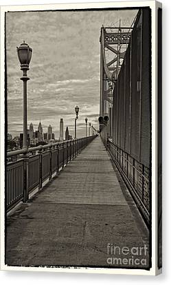 Philadelphia From Ben Franklin Bridge 6 Canvas Print by Jack Paolini