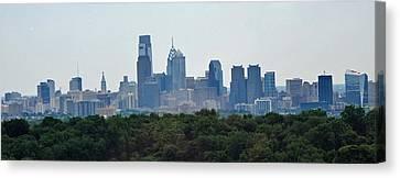 Philadelphia Green Skyline Canvas Print by Ian  MacDonald