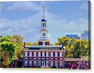 Philadelphia Landmark Canvas Print by DJ Florek