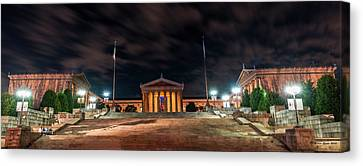 Canvas Print featuring the photograph Philadelphia Museum Of Art by Marvin Spates