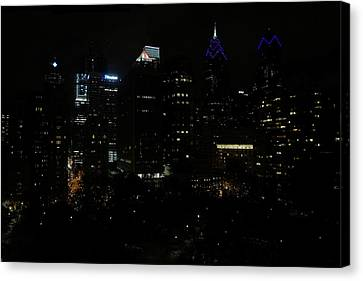 Philadelphia Night Lights Canvas Print