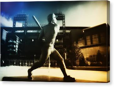 Philadelphia Phillie Mike Schmidt Canvas Print by Bill Cannon