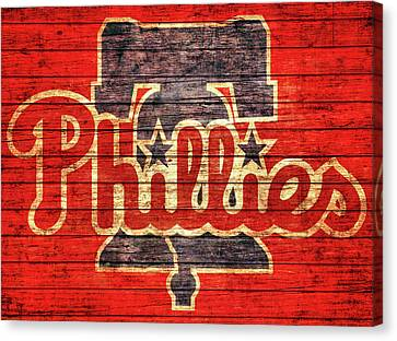 Philadelphia Phillies Barn Door Canvas Print by Dan Sproul