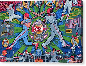 Philadelphia Phillies Canvas Print by Frozen in Time Fine Art Photography
