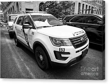 Philadelphia Police Ford Interceptor Utility Patrol Car Vehicle Usa Canvas Print